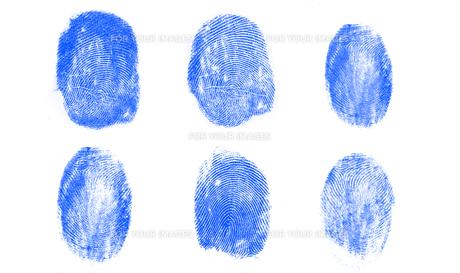 Blue fingerprintsの写真素材 [FYI00488735]