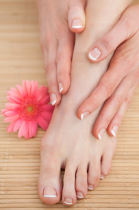French nail treatment at spa centerの写真素材 [FYI00488763]