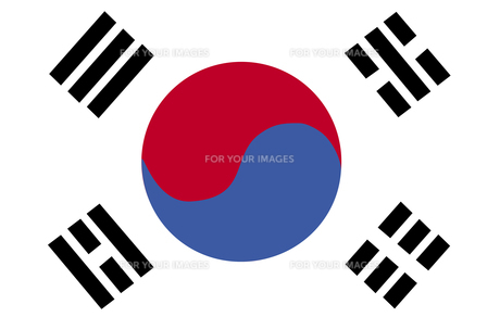 South Korean Flagの素材 [FYI00488780]