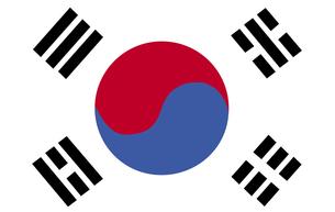 South Korean Flagの写真素材 [FYI00488780]