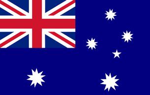 Australian Flagの写真素材 [FYI00488842]