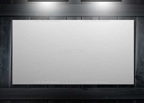 White copy space poster hung on a wallの素材 [FYI00488919]