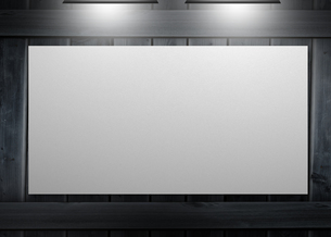 White copy space poster hung on a wallの写真素材 [FYI00488919]
