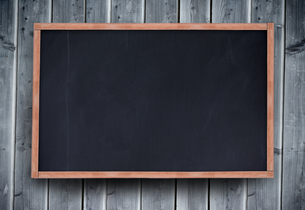 Blackboard with copy space on wooden boardの素材 [FYI00488927]