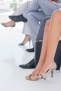 Legs of business people in lineの写真素材 [FYI00488930]