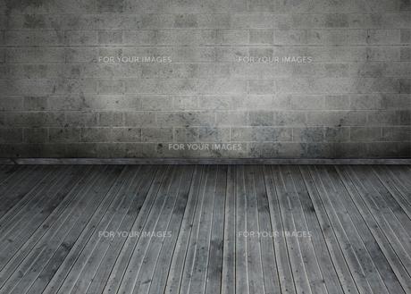 Empty room with brick wallの写真素材 [FYI00488932]