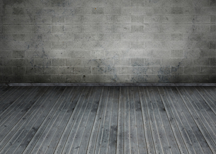 Empty room with brick wallの写真素材 [FYI00488932]