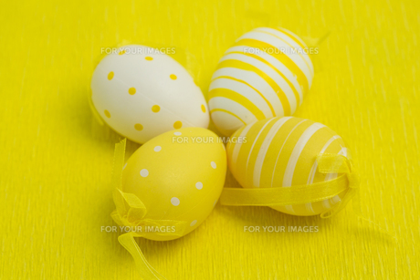 Four easter eggsの素材 [FYI00488935]