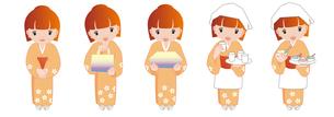 和服女性 セットの写真素材 [FYI00488958]