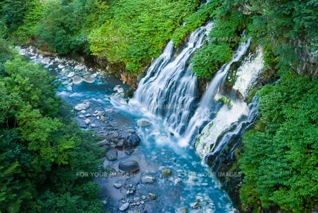 美瑛町白金・白ひげの滝の写真素材 [FYI00488991]
