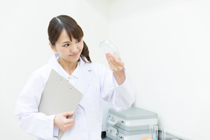 白衣の研究員の写真素材 [FYI00491191]