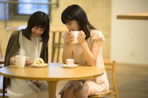 カフェで話す女性の素材 [FYI00491544]