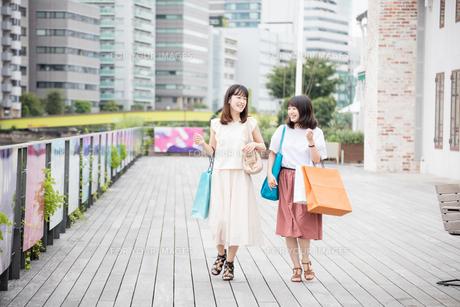 ショッピングをする女性2人の素材 [FYI00491643]