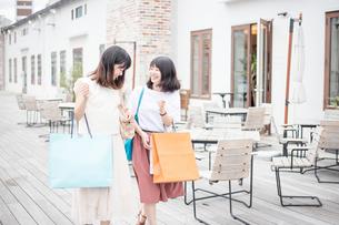 ショッピングをする女性2人の素材 [FYI00491645]