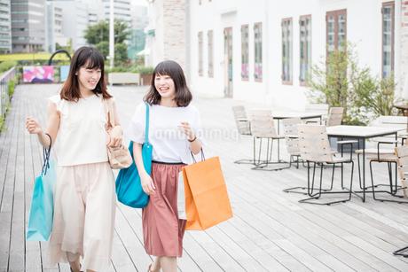 ショッピングをする女性2人の素材 [FYI00491646]