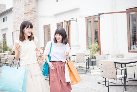 ショッピングをする女性2人の素材 [FYI00491648]