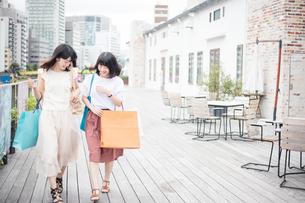 ショッピングをする女性2人の素材 [FYI00491651]