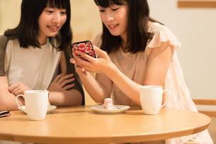 カフェでくつろぐ女性の素材 [FYI00491729]