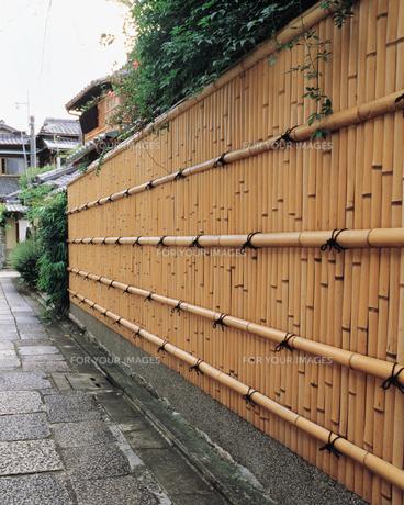 石部小路の竹塀の素材 [FYI00492887]