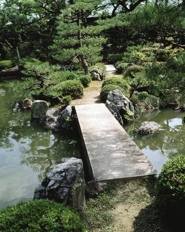 池にかかる橋の素材 [FYI00492889]