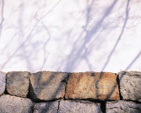石垣と白壁の素材 [FYI00492926]