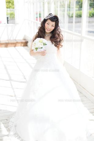 ウエディングドレスの女性の写真素材 [FYI00493949]