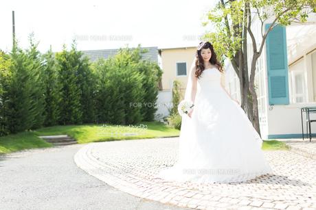 ウエディングドレスの女性の写真素材 [FYI00493979]