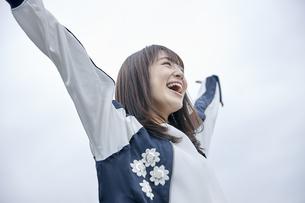 楽しそうな笑顔の女性の素材 [FYI00495594]