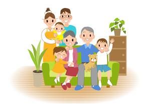 笑顔の家族の写真素材 [FYI00495804]