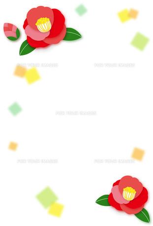 椿の和風フレームの写真素材 [FYI00495811]