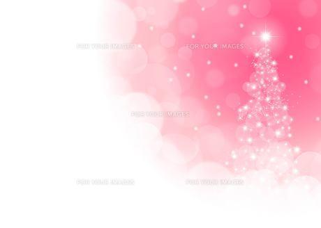 ピンクのクリスマスツリーの素材 [FYI00495821]