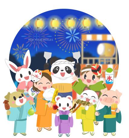 楽しいお祭りの素材 [FYI00495836]