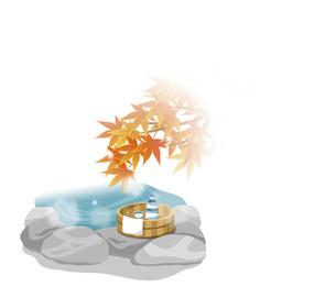 紅葉と温泉のイメージの素材 [FYI00495845]