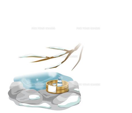 雪と温泉のイメージの素材 [FYI00495848]