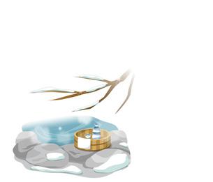 雪と温泉のイメージの写真素材 [FYI00495848]