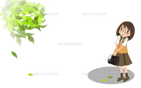 新緑と女の子の素材 [FYI00495855]