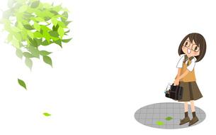 新緑と女の子の写真素材 [FYI00495855]