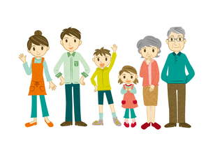 3世代家族の写真素材 [FYI00495914]