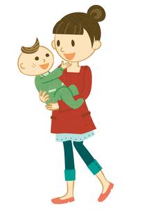 赤ちゃんを抱っこするママの写真素材 [FYI00495921]