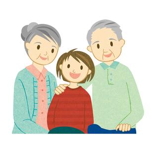 老夫婦と孫の写真素材 [FYI00495922]