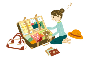 旅行の準備をする女性の写真素材 [FYI00495930]