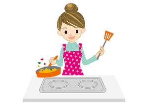 料理をする女性2の写真素材 [FYI00495933]
