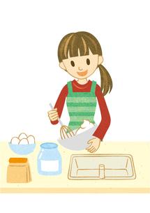 お菓子を作る主婦の写真素材 [FYI00495952]