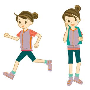 マラソンする女性の写真素材 [FYI00495961]