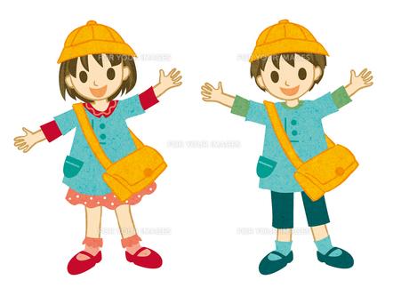 園服を着た子どもの素材 [FYI00495967]