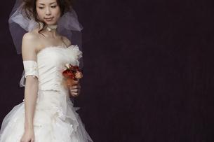 ブーケを持つ花嫁の写真素材 [FYI00496216]