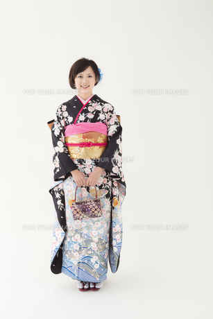 着物姿の女性 宮城県仙台市の素材 [FYI00496414]
