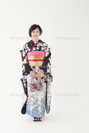 着物姿の女性 宮城県仙台市の写真素材 [FYI00496414]