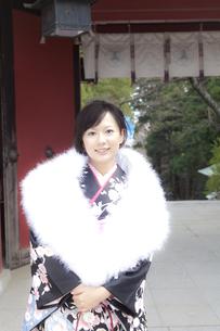 着物姿の女性 宮城県塩釜市の素材 [FYI00496437]
