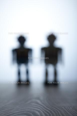 レトロなロボットのおもちゃの写真素材 [FYI00496464]